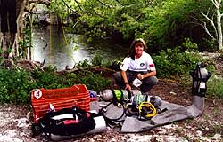 Couple of years later, the new diving days at Cenote Crustacea, set up for exploration