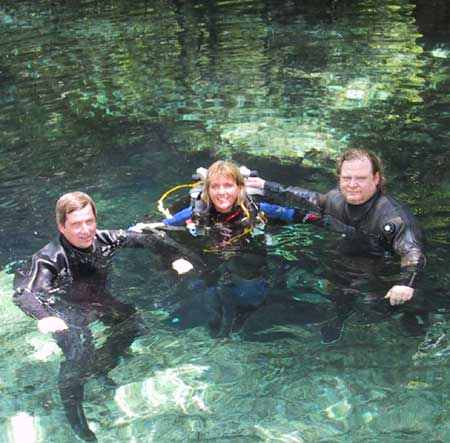 May 02, Devils eye, Ginnie springs with Don Bishop and Jeff Hancock