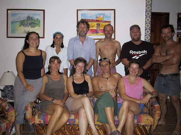 Scientific expedition july 2001, Trish,Helen,Pete,Stefan,Greg,Marike, Sam,Andy,Fiona and Ed