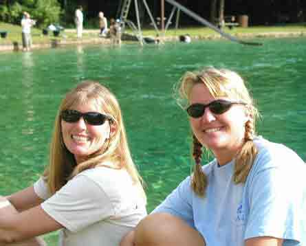 Maryann and Marike at Jackson Blue Florida 2003