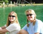 Maryann and Marike at Jackson Blue Florida 2003