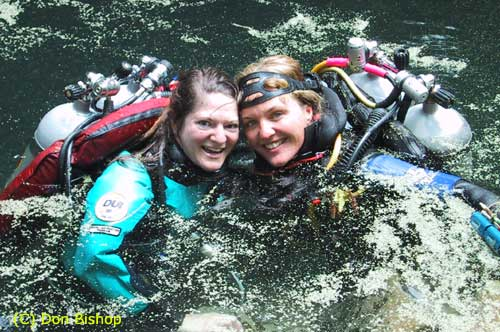 May 02, in Orange Grove sink, Florida with Cavedivinggirl Kathy