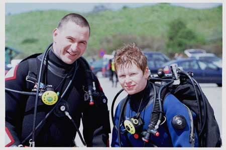 soon to be cavedivers Cor and the creator of this awsome webpage, Jesca